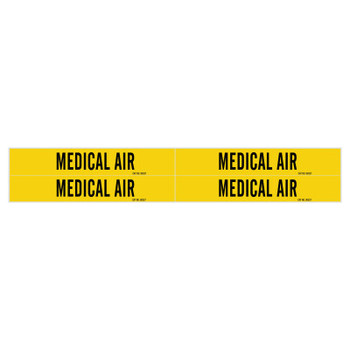 Brady Medical Gas Pipe Markers, Carbon Dioxide, White on Gray Vinyl, 1 1/8 in x 7 in (1 CG/EA)