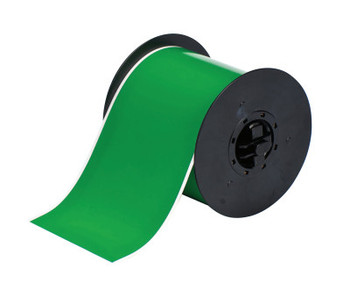 Brady BBP31 Indoor/Outdoor Vinyl Tapes, 100 ft x 4 in, Green (1 RL/PK)