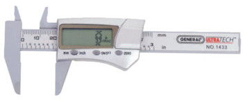 General Tools Digital/Fraction Electronic Calipers, 1 in-3 in/150 mm (1 EA/RL)