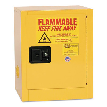 Eagle Mfg Flammable Liquid Storage, Manual-Closing Cabinet, 4 Gallon (1 EA/EA)