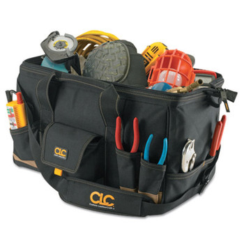 CLC Custom Leather Craft MegaMouth Tool Bag, 31 Compartments, 12 in X 18 in (1 EA/CT)