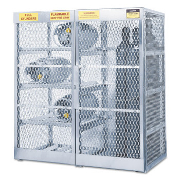 Justrite Aluminum Cylinder Lockers, Up to 8 Horizontal; and 10 Vertical Cylinders (1 EA/CT)