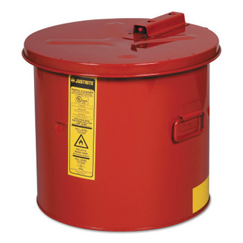 Justrite Dip Tanks, Hazardous Liquid Cleaning Tank, 3 1/2 gal, Red (1 EA/CT)