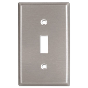 Cooper Wiring Devices WALLPLATE 1G TOGGLE RECEPTACLE MID SS (10 EA/CT)