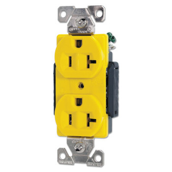 Cooper Wiring Devices RECP DUP CR 20A 125V 2P3W B/SWIRE YL (1 EA/EA)