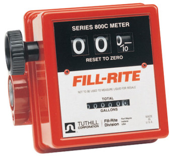 Fill-Rite Mechanical Flow Meters, 1 in Inlet, 5 gal/min - 20 gal/min, 3 Wheel (1 EA/EA)