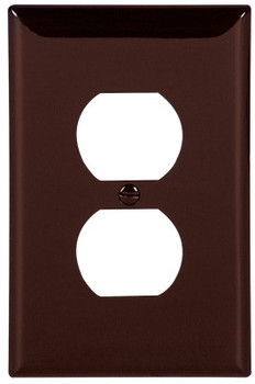 Cooper Wiring Devices WALLPLATE 1G DUPLEX POLYMID BR (25 PK/SET)