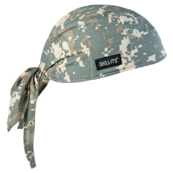 Ergodyne Chill-Its 6615 High-Performance Dew Rags, 6 in X 20 in, Camo (1 EA/EA)