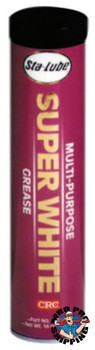 CRC Super WhiteMulti-Purpose Grease, 14 oz Cartridge (10 CTG/EA)