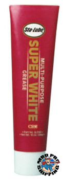 CRC Super WhiteMulti-Purpose Grease, 10 oz Tube (6 TUBE/EA)