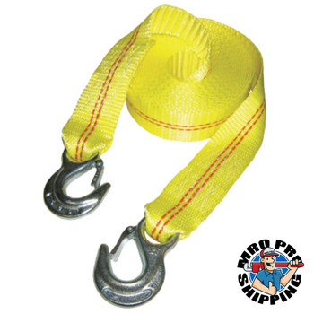 Keeper Vehicle Recovery Straps, Steel Hooks, 2 in W, 25 ft L, 5,000 lb Capacity (4 EA/EA)