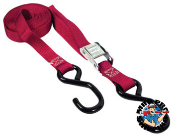 Keeper Cambuckle Tie-Down Straps, Steel Hooks, 1 in W, 15 ft L, 1,200 lb Capacity (4 CTN/EA)