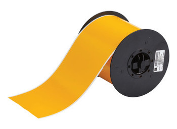 Brady BBP31 Indoor/Outdoor Vinyl Tapes, 100 ft x 4 in, Yellow (1 RL/EA)