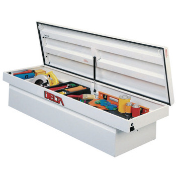 "Apex Tool Group Single Lid Crossover Truck Boxes, 70 5/8"" x 20 5/8"" x 17 3/8"", White (1 EA/EA)"