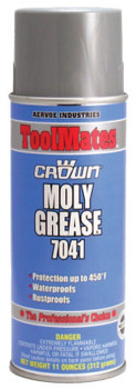Aervoe Industries Molybdenum Grease, 11 oz, Aerosol Can (12 CAN/EA)