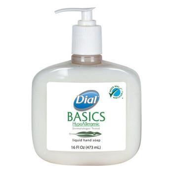 DIAL PROFESSIONAL Basics Liquid Hand Soap, Rosemary & Mint, 16oz Pump (12 CT/EA)