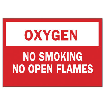 Brady Chemical and Hazardous Material Signs, Oxygen/No Smoking No Open Flames (1 EA/EA)