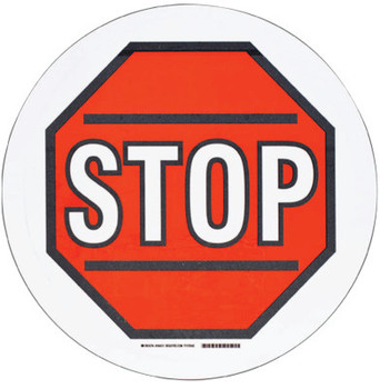 Brady Floor Safety Signs, Stop, White/Red/Black (1 EA/EA)