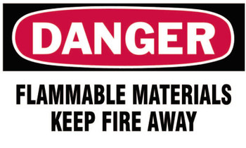 Brady Gas Cylinder Lockout Labels, Danger Flammable Material, 5 in W x 3 in L, WH/RD (10 PKG/EA)