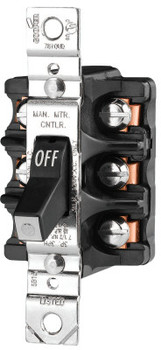 Cooper Wiring Devices MAN CONT 30A 600VAC 3P ST FRONTWIRE BK (1 EA/EA)