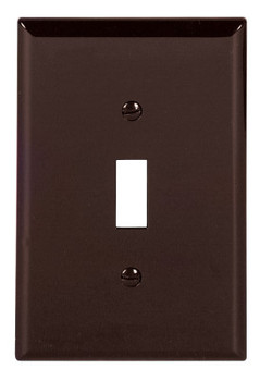 Cooper Wiring Devices WALLPLATE 1G TOGGLE POLYMID BR (25 PK/EA)