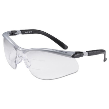 3M BX Safety Eyewear, +2.5 Diopter Polycarbon Anti-Fog Lenses, Silver/Black Frame (1 EA/EA)