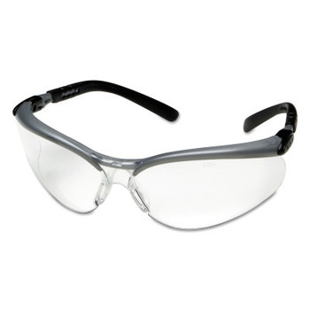 3M BX Safety Eyewear, Clear Lens, Anti-Fog, Hard Coat, Black/Silver Frame, Nylon (20 EA/EA)
