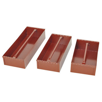Apex Tool Group Delta Jobsite Removable Tray, 15 3/16 in W x 8 in D x 4 in H, Steel, Red (1 EA/EA)