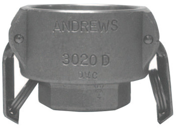Dixon Valve Andrews Part D Cam and Groove Couplers,  2 x 1 1/2 in (FNPT) (10 BOX/EA)