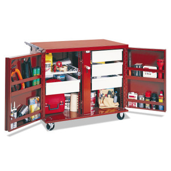 Apex Tool Group Rolling Work Benches, 43 7/8W x 26 7/8D x 38 1/2H, 2 Doors, 4 Drawers, 1 Shelf (1 EA/EA)
