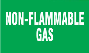Brady Gas Cylinder Lockout Labels, Non Flammable Gas, 5 in W x 3 in L, Green/White (10 PKG/EA)