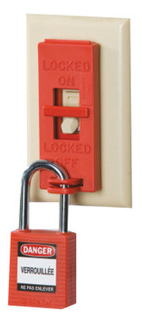 Brady Wall Switch Lock Box, Red (6 PKG/EA)