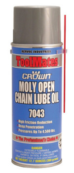 Aervoe Industries Moly/Oil Open Chain Lubes, 16 oz Aerosol Can (12 CAN/EA)