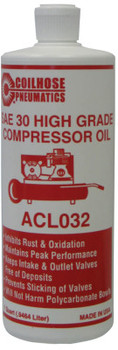 Coilhose Pneumatics Air Compressor Oils, 32 oz, Bottle (12 CS/EA)