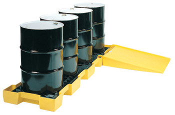 Eagle Mfg Spill Containment Platforms, Yellow, 10,000 lb, 60.5 gal, 30 1/4 in x 103 1/2 in (1 EA/EA)