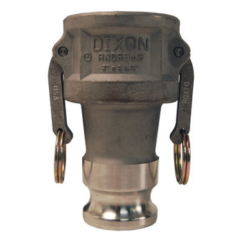 Dixon Valve Andrews Cam and Groove Coupler x Adapters, 4 in, Aluminum (5 BOX/EA)
