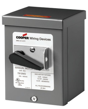 Cooper Wiring Devices AH7810UD W/TYPE 3R ENCLOSURE GY (1 EA/EA)
