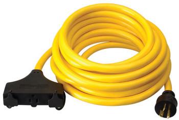 CCI Generator Extension Cord, 25 ft, 3 Outlets, 20 Amp (1 EA/EA)