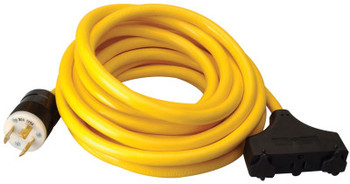 CCI Generator Extension Cord, 25 ft, 3 Outlets, 30 Amp (1 EA/EA)