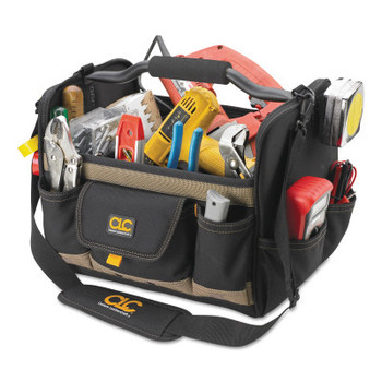 CLC Custom Leather Craft Soft Side Tool Bags, 21 Compartments, 11 in X 11 in (1 EA/CA)
