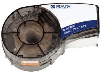 Brady BMP21 Labels, 16 in L x 1/2 in W, Black on White (1 EA/EA)