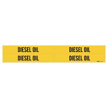 "Brady Self-Sticking Vinyl Pipe Markers, DIESEL OIL, Black on Yellow, 1 1/8"" x 7"" (1 EA/EA)"