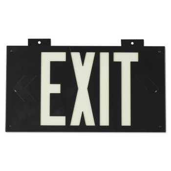 Brady Glo High Performance Glow-In-The-Dark Exit Signs, Black, Single Face (1 EA/EA)