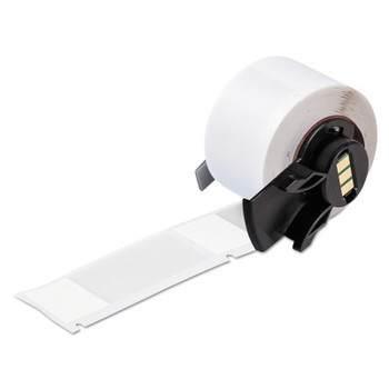 Brady TLS 2200/TLS PC Link Labels,  1 in x 2 1/2 in, White/Translucent (100 ROL/BX)