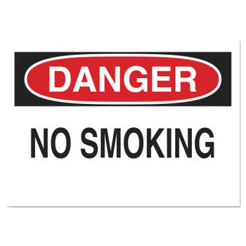 Brady Health & Safety Signs, Danger - No Smoking, 10X14 Polyester Sticker (1 EA/CT)