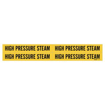 Brady Self-Sticking Vinyl Pipe Markers, High Pressure Steam, Black on Yellow, 7 x 7 (1 CG/CT)