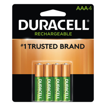 Duracell Pre-Charged Rechargeable Batteries, NiMH, 1.5 V, AAA (1 PK/PA)