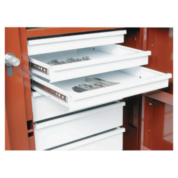 Apex Tool Group Replacement Drawer for Rolling Work Bench, 1 Drawer, 4 1/2 in D, Steel, White (1 EA/PAL)