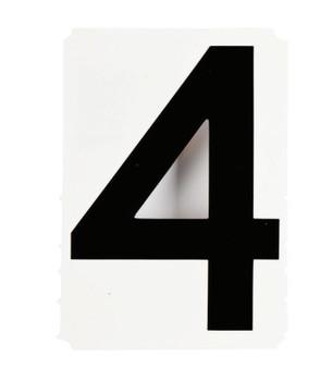 "Brady Gothic Quik-Align Ten Packs, 4.8 in x 5.1 in, ""4"", Black (1 EA/PAL)"