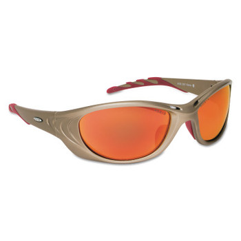 3M Fuel 2 Safety Eyewear, Red Mirror Lens, Anti-Fog/HC, Metallic Sand Frame, Nylon (1 EA/CT)